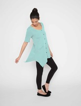 Drain Management- Heal With Style Laid Back Lounge Shirt by Eva and Eileen in Icy Teal