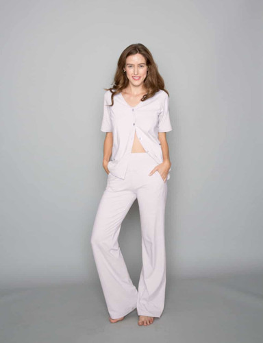 Sweats No More Lounge Pants by Heal With Style in Silver Peony
