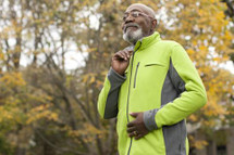 Men's Green Polar Fleece Jacket for Chemo & Dialysis by Chemo Cozy