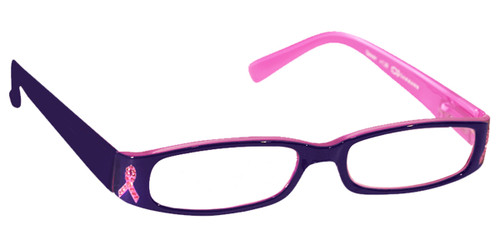 Living Beyond Breast Cancer Reading Glasses (ICU)  in Pink Ribbon Reading Glasses