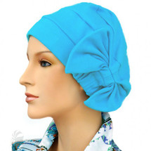Two Way Cap for chemo patients with removable bow