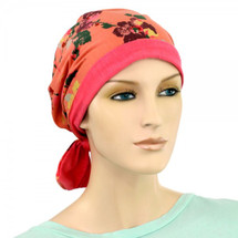 reversible 2 in 1 mini wrap cap for cancer patients