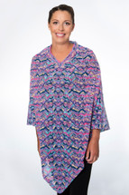 Crochet Port Accessible Chemo Poncho Wrapped in Love