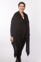 Long Black Sweater Chemo Wrap