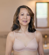 American Breast Care Seamless Petite Mastectomy Bra in Sand