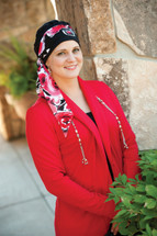 3 Seam Turban Cap for chemo patients by Hats with Heart in Black