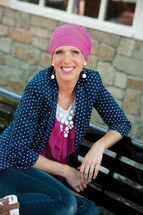 3-seam French Terry Turban for chemo patients by Hats with Heart