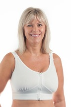 Wear Ease Compression Bra in white