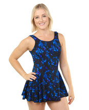 Princess Mastectomy Swimdress by T.H.E. in Star Connection print