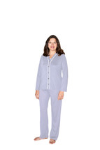 Cool-jams Wicking Jillian 3 Piece Pajama Set in Lilac or White