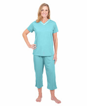 Cool-jams Kristi Capri Set in Aqua