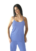 Cool-jams Mix and Match Cami Top with Extra Support in Periwinkle, Turquoise, and Black