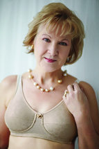 American Breast Care Mastectomy Rose contour bra in Beige