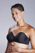American Breast Care Seamless Mastectomy Bra in black