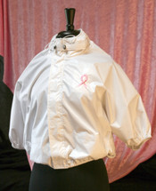 Shower Shirt in white is anti-microbial, post-surgical, water resistant garment not only protects the surgical incisions, drain portals sutured into the chest/armpits or torso, and the drain tubes/bulbs from getting wet while showering/bathing, the product also supports the weight of the drains, tubes and bulbs