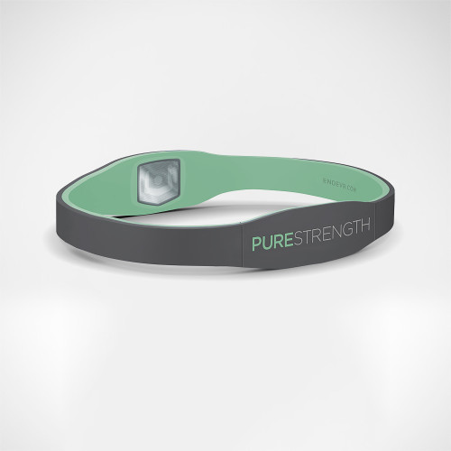 Pure Series Ion Bracelet with medical online profile by ENDEVR - Grey / green
