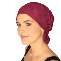 Denise by Chemo Beanie - Currant Wavy Knit