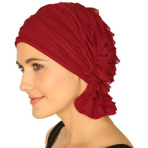 Nancy Ruffle by Chemo Beanie - Red Ruffle
