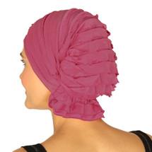 Carol by Chemo Beanie - hot pink ruffle