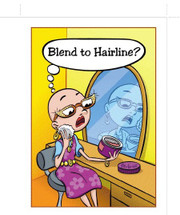 Cancer Girl, LLC - Blend To Hairline? Greeting Card