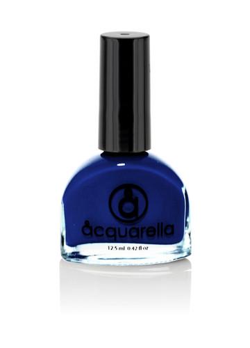 Water based nail polish called Shalom by Acquarella - Royal blue