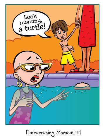 Cancer Girl, LLC - Look Mommy! Laugh at Life Greeting Card