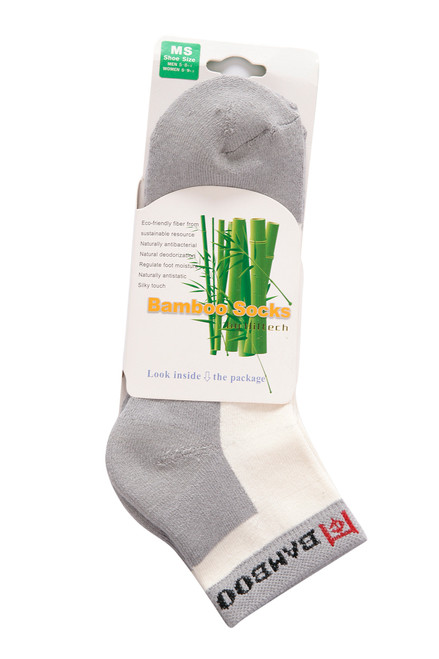 Two pairs of our performance quarter socks are contained in our sock card.