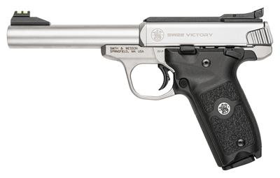 Model SW22 Victory 22LR 5.5 Inch Stainless Steel Frame Stainless Steel Finish 10 Round - 022188864076