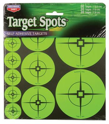 Self-Adhesive Target Spots Atomic Green With Crosshairs 110 Assorted Spots - 029057339383
