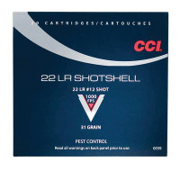 .22 Long Rifle Shotshell 31 Grain Number 12 Shot - 076683000392