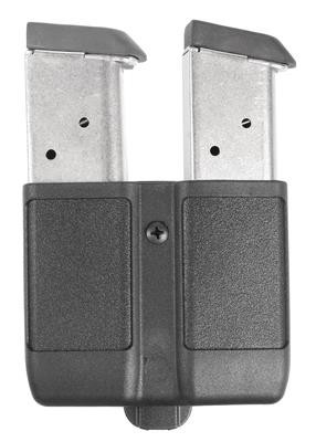 Double Mag Case for Single Stack Magazines 9mm/.40/.45/10mm/.357 Sig Matte Finish Black - 648018127267
