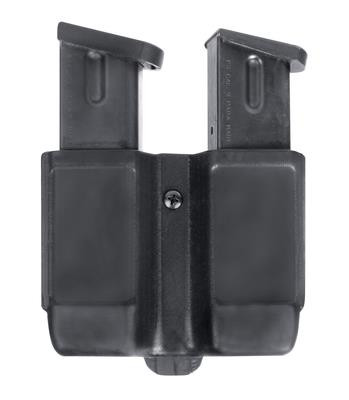 Double Mag Case for Double Stack Magazines 9mm/.40/.45 Carbon Fiber Finish Black - 648018127274