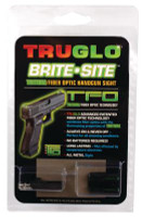 Tritium Fiber Optic Brite-Site Handgun Low Sight For Glock 42 - 788130019641