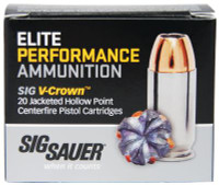 Elite Performance V-Crown .40 S&W 165 Grain Jacketed Hollow Point - 798681458196