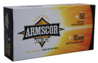 Armscor Handgun Ammunition 10mm 180 Grain Full Metal Jacket - 812285020099