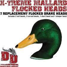 Dakota Decoy X-treme Mallard Replacement Heads - 713757986519