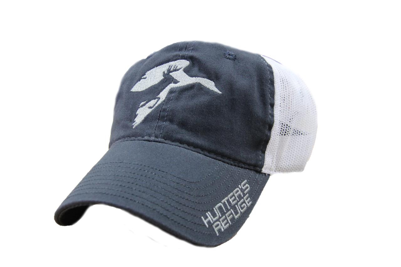 Hunter's Refuge Navy/White Mesh Hat - 885792080962