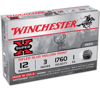 Winchester X123RS15 Super-X Slug 12ga Shells - (5/box) - 020892009585