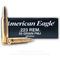 Federal AE223J 55gr 223 Rem FMJ Bullets - (20/box) - 029465062323
