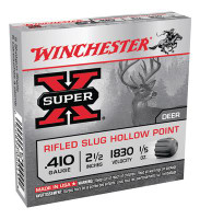 Super-X .410 Gauge 2.5 Inch 1830 FPS .2 Ounce Rifled Slug Hollow Point Slug - 020892000438