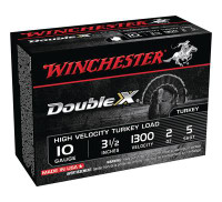 Double X High Velocity Turkey Loads Copper Plated Buffered 10 Gauge 3.5 Inch 1300 FPS 2 Ounce 5 Shot - 020892013698
