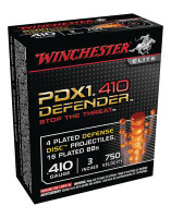 PDX1 Defender Ammunition For Personal Defense .410 Gauge 3 Inch 4 Discs 16 BBs 10 Per Box - 020892020344