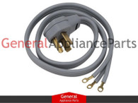 ClimaTek 6' 3 Prong Clothes Dryer Power Cord Replaces Amana Roper Estate Crosley # 80661592 4392905R