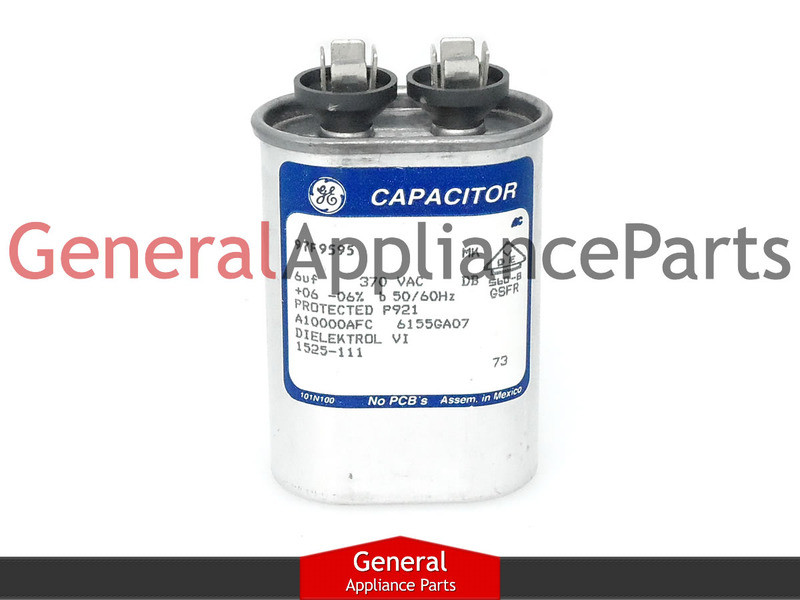 Kenmore Roper Range Oval Capacitor 6 MFD 370 VAC 329649 1693