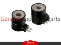 ClimaTek Dryer Gas Valve Coil Replaces Whirlpool Roper Maytag Amana # 694539 694540 306106 306105