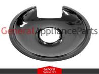 """ClimaTek Stove Range Cooktop 8"""" Black Burner Drip Pan Bowl Replaces # DBPA012"""