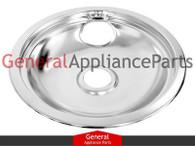"ClimaTek Stove 8"" Chrome Drip Bowl Replaces GE Hotpoint Kenmore # WB31T10011 WB32X10014 WB32T10009"