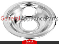 "OEM Range 6"" Burner Chrome Drip Pan Bowl Replaces Frigidaire Kenmore Tappan Gibson # 5303280336"