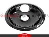 "ClimaTek Stove 8"" Black Drip Pan Bowl Replaces Frigidaire Kenmore # 5304430150 5303305651 318067051"