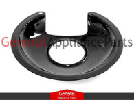 "ClimaTek 6"" Black Burner Drip Pan Bowl Replaces Frigidaire # T6537580 6565456 07537051 06565456"